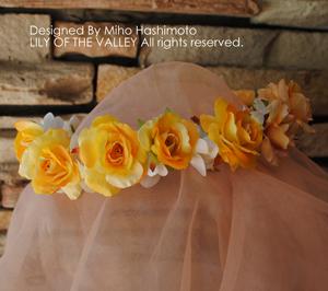 シルクフラワー 花冠