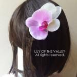 コチョウランの髪飾り