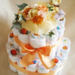 おむつケーキ ガトーフレーズ 黄色オレンジ系