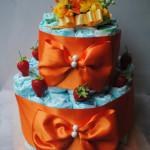 スミレのおむつケーキ