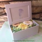 お供えの花 プリザーブドフラワー「フォトボックス」