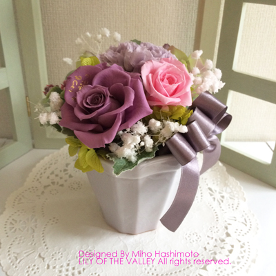 ご両親へのプレゼント プリザーブドフラワー「いつもありがとう」ピンク