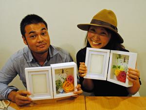 結婚式 ご両親贈呈 お花の時計 手作り教室 杉田様ご夫妻の作品
