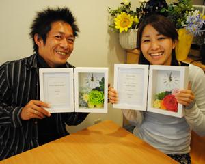 結婚式 ご両親へのプレゼント 手作り教室 受講生作品