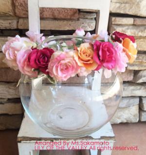 造花の花冠 手作り一日体験レッスン