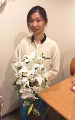 造花キャスケードブーケ 一日体験レッスン
