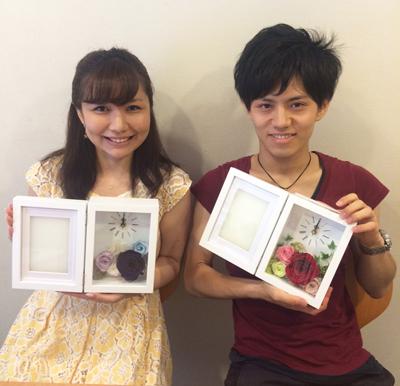花時計 手作り教室 江尻様ご夫妻の作品