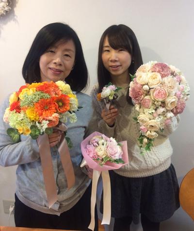 手づくりブーケ教室 造花