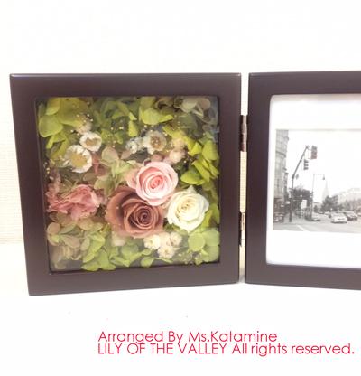 ご両親贈呈 お花のフォトフレーム 手作りレッスン作品