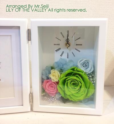 ご両親贈呈 お花の時計&フォトフレーム 受講生作品