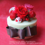 プリザーブドフラワー ストロベリーチョコレートケーキ