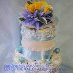 フリルリボン&ブルーリボンのダイパーケーキ