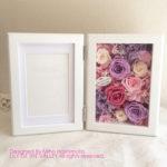 結婚式 記念品フォトフレーム ラベンダー&ピンク