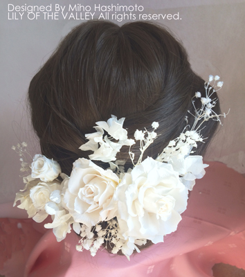 結婚式用ヘッドパーツ バラ