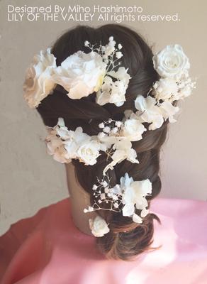 ラプンツェル 髪型 花飾り