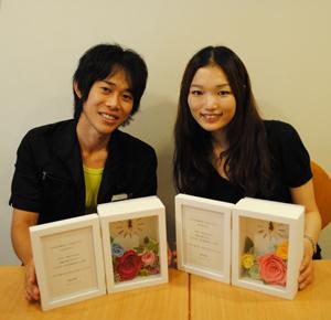 ご両親贈呈 お花の時計&フォトフレーム 坂本様ご夫妻の作品