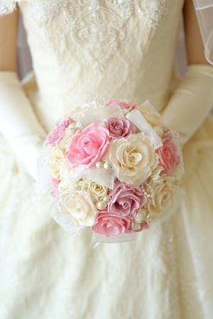 ウェディングブーケの作り方教室 ご結婚式のお写真