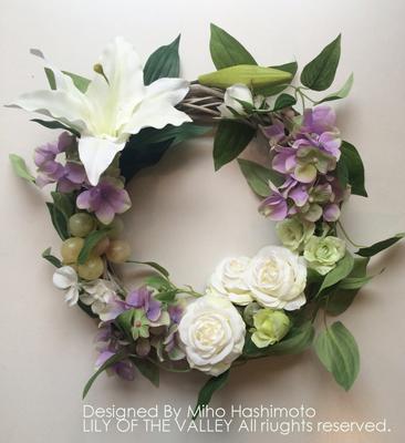 造花リース カサブランカ